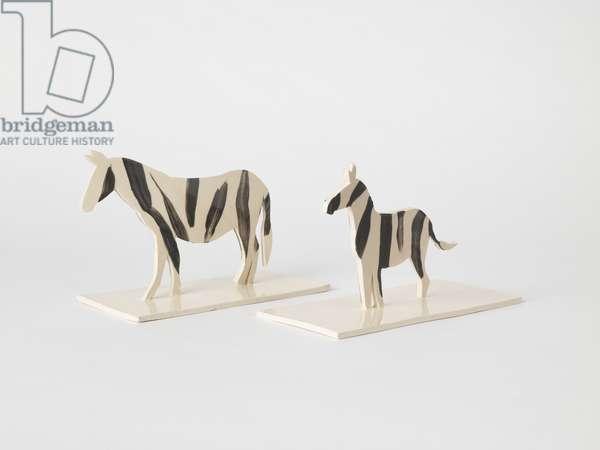 Zebras, 2018, (ceramic)