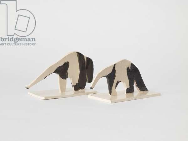 Anteaters, 2018, (ceramic)