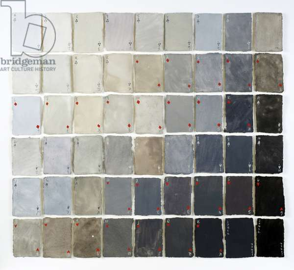 54 Shades of Grey, 2015 (gouache on paper)