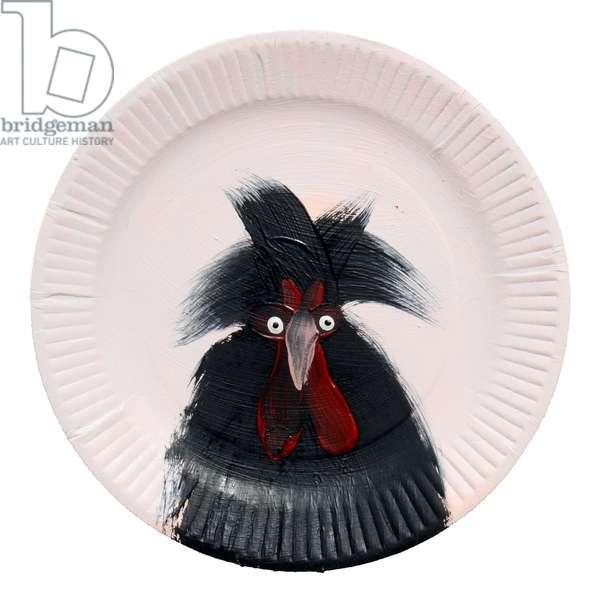 Chicken Plate, 2014 (oil on board)