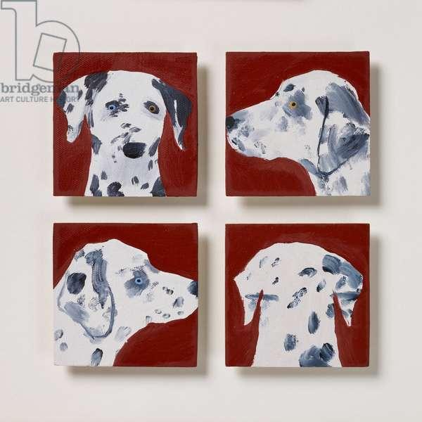 Four Dalmatians, 2020 (oil on canvas)