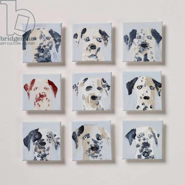 Nine Dalmatians 1, 2020 (oil on canvas)