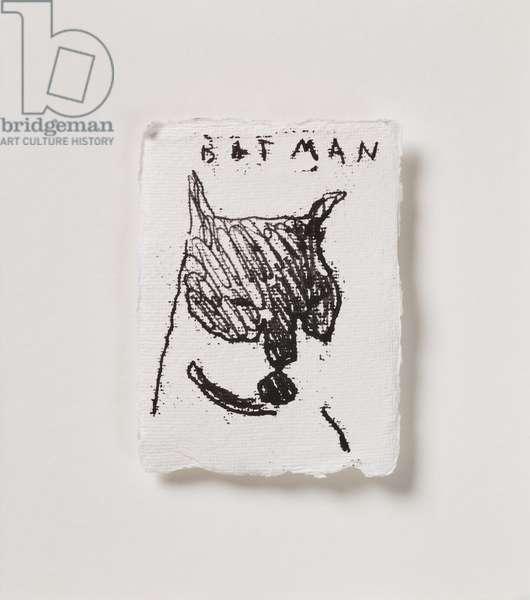 Batman Catman, 2020 (monoprint on paper)