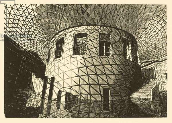 British Museum series: No. 4, 2005 (wood engraving print on paper)