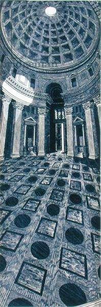 Pantheon, 2000 (linocut)