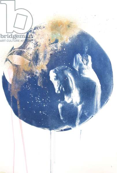 Arion, 2015, (hand-painted cyanotype on paper)