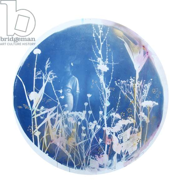 Under The Harvest Moon, 2015, (hand-painted cyanotype on paper)