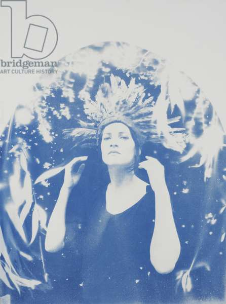 Lena, 2014, (cyanotype on paper)