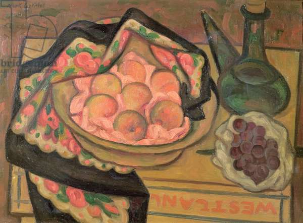 Peaches and a Green Bottle, 1931 (oil on canvas)