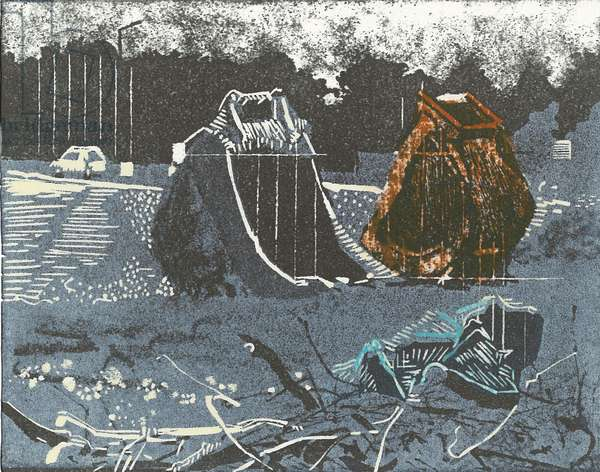 Prime Property, 2014 (Linocut and etching)