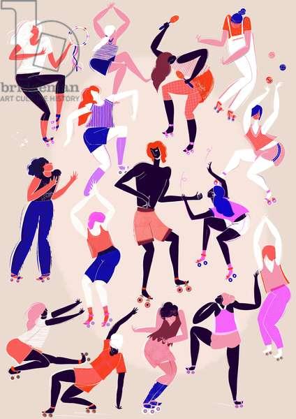Roller Disco, 2015 (digital)