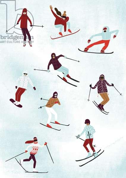 Fun in the Snow, 2014 (digital)