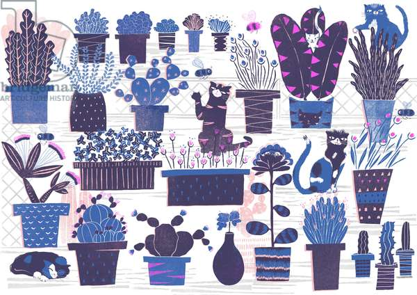 Cat Garden, 2015 (digital)