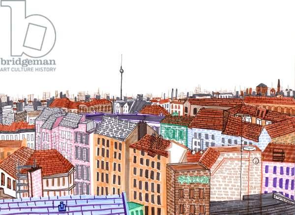 Berlin, 2017, brush pens
