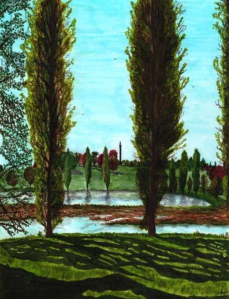 Blenheim Palace, 2020, Brush Pens on Paper