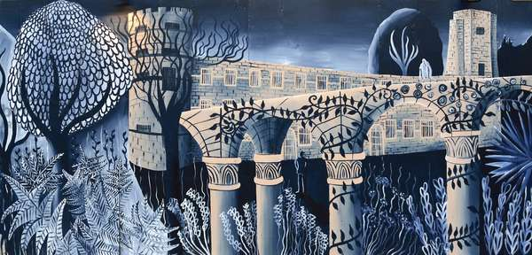 Oxford Castle and the Enchanted Forest, 2014, mural