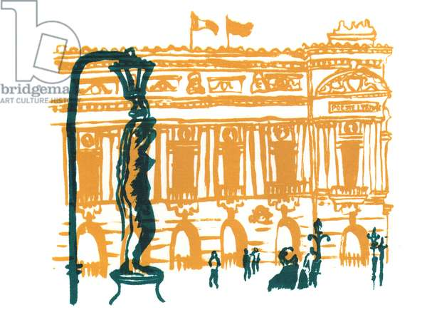 Paris Opera House, 2014, screen print