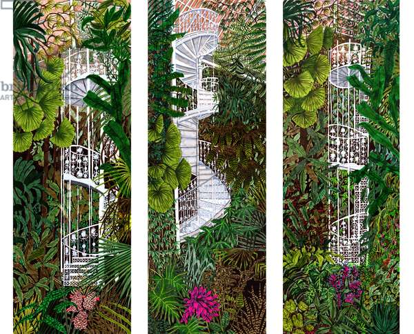 Kew Gardens Compilation, 2020 (Brush Pens on Paper)