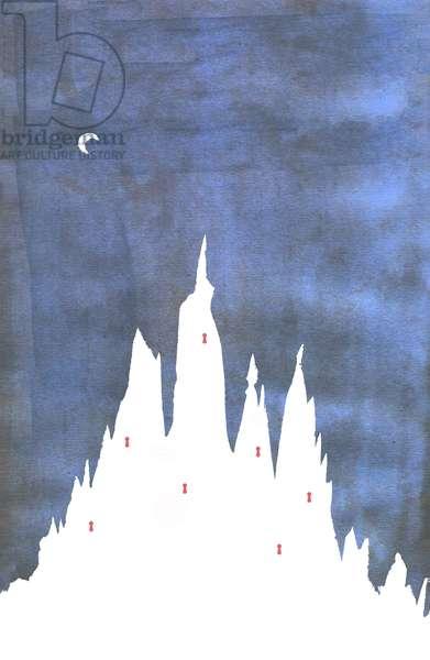 Bluebeard's Castle, 2013, Ink