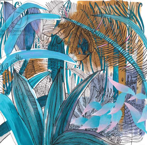 Tropical Garden, 2015, (acrylic & ink)