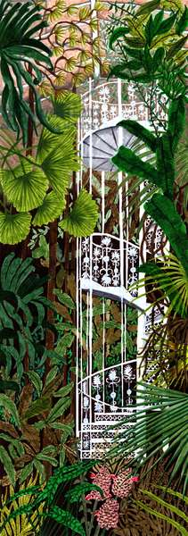 Kew Gardens, 2019, brush pens