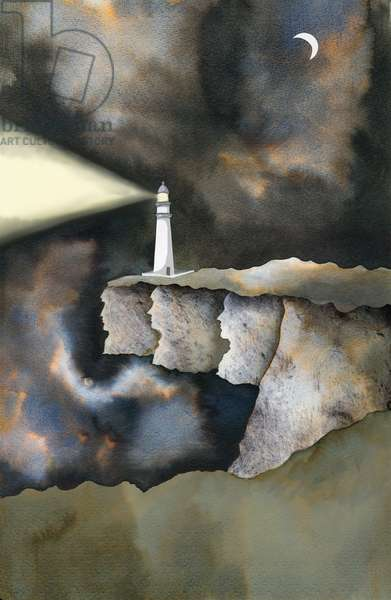 The Lighthouse, 2013, ink and digital