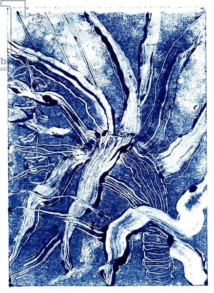 Inky Plants no.2, 2019, mono print