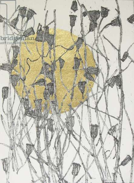 Campanula, 2015 (etching with gold leaf)