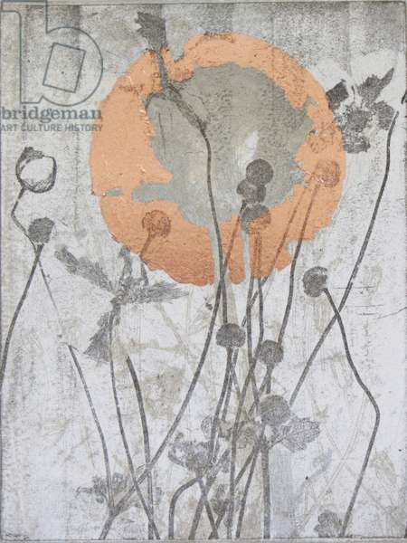 A New Day, 2015 (etching with copper leaf)
