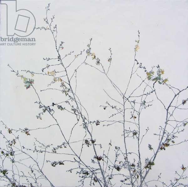 Finding Spring V, 2016 (oil, gold leaf and gesso on canvas)