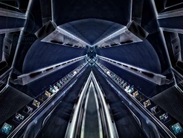 Blue Tunnel, 2014 (digital image)