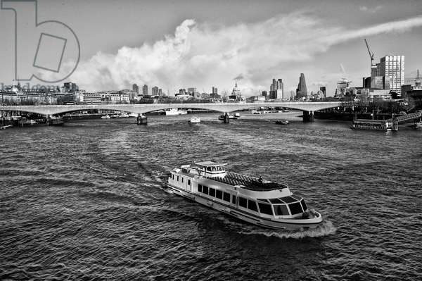 River boat on the Thames, 2020, (photograph)