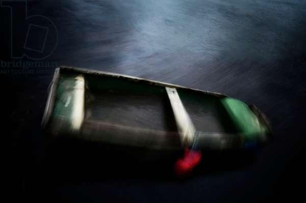Row boat sinking, 2020, (photograph)