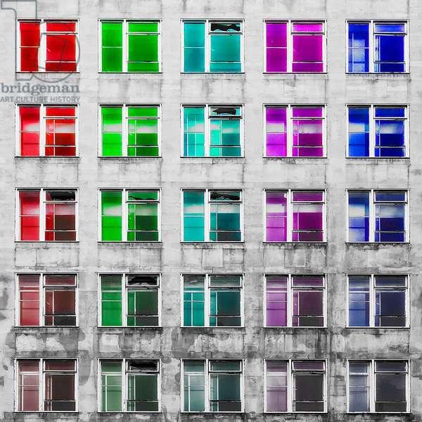 Multi-coloured Windows, 2020, (photograph