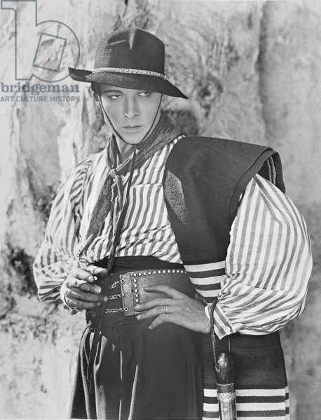 Rudolph Valentino, as Don Alonzo Castro, in the silent film, 'A Sainted Devil', 1924 (photo)