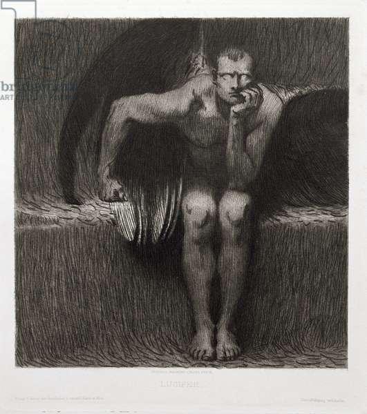 Lucifer, 1892 (engraving)