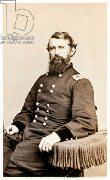 Samuel P. Carter: brevet major general who served in the Union Army during the American Civil War (b/w photo)