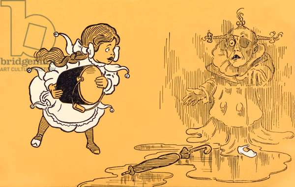 The Wicked Witch of the West melts away, from 'The Wonderful Wizard of Oz' by L. Frank Baum