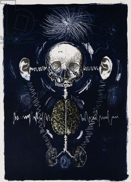 Dreaming Voices 4, 2012, (lithograph)