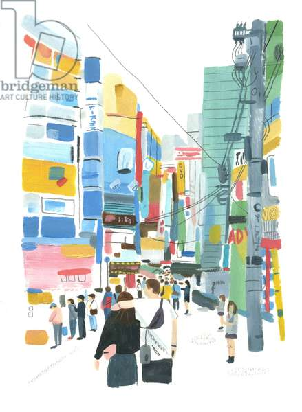 Akihabara, 2015 (oil on paper)