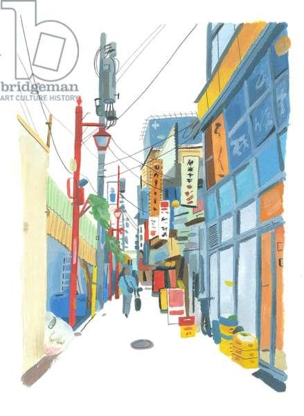 Shinjuku, 2015 (oil on paper)