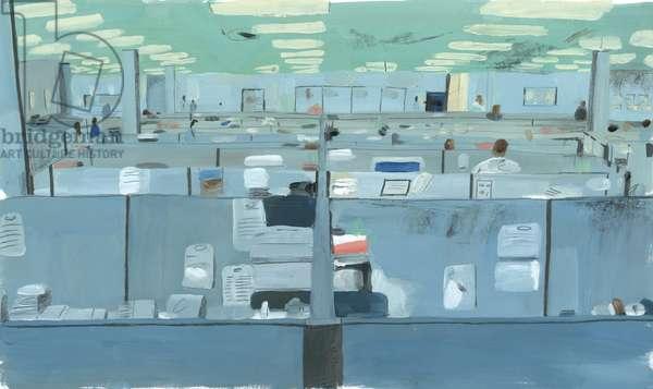 The Fugitive, 2012 (oil on paper)