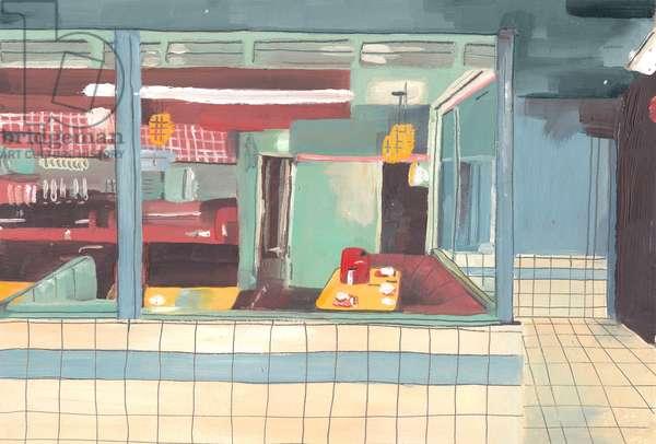 Diner, 2012 (oil on paper)