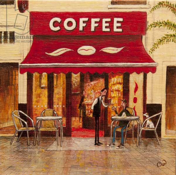 The Coffee, 2014, (oil on panel)