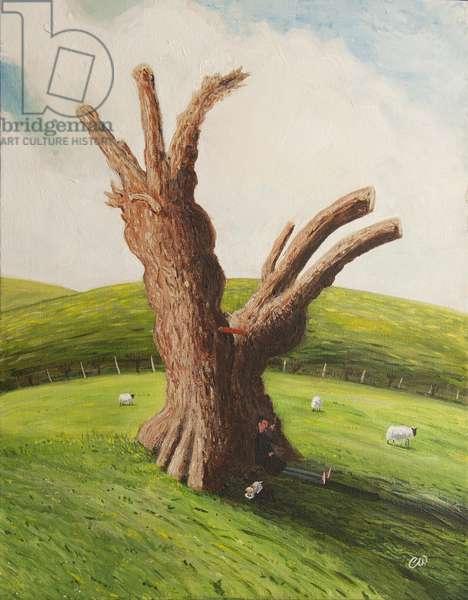 Bunyan's Oak, 2005, (acrylic on canvas)