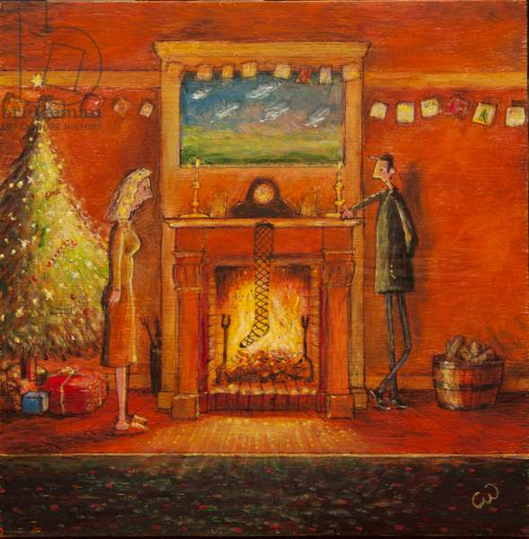 The Stocking, 2014, (oil on panel)