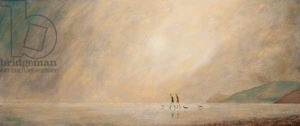 The Misty Beach, 2014, (oil on panel)