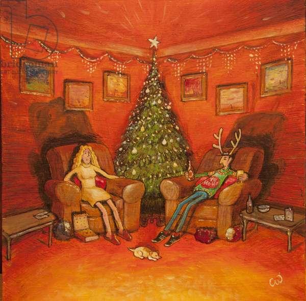 Christmas Jumper, 2014, (oil on panel)