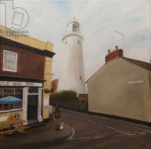 The Sole Bay Inn (& Lighthouse), 2016, (oil on canvas)