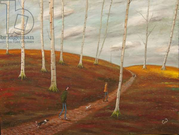 The Woodland Walk, 2014, (oil on panel)